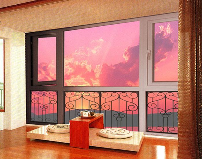 欧泰克塑钢+金属休闲室中空玻璃门窗案例